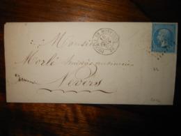Lettre GC 3002 Pouilly En Montagne Cote D'Or Avec Correspondance - 1849-1876: Classic Period