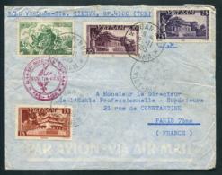 Vietnam Lettre De Quan Buu 1955 Pour Paris Cachet Militaire Buu Tin Vien Envoi De Vu-Quôc-Gia - Vietnam