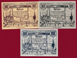 Allemagne 3 Notgeld Stadt Rügenwaldermüde (Pologne --Darlowo  SERIE COMPLETE --RARE)  Dans L 'état Lot N °31 - [ 3] 1918-1933 : República De Weimar