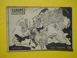 Politique ,Satirique ,par MULLER ,façon Arcimboldesqque ,L'Europe En 1914. - Satira