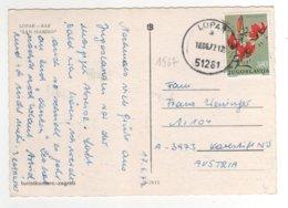 "Beau Timbre  Yvert N° 1567 "" Fleur : Lys "" Sur Cp , Carte , Postcard Du 18/06/1977 - Cartas"