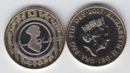 UK £2 Coin Jane Austen - 2017 Brilliant Uncirculated BU - 1971-… : Monnaies Décimales