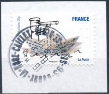 France - Sourires De Serge Bloch YT A478 Obl. Cachet Rond Manuel Sur Fragment - Francia