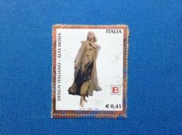 2002 ITALIA FRANCOBOLLO USATO STAMP USED DESIGN ALTA MODA BIAGIOTTI - 6. 1946-.. Repubblica