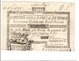 SACRO MONTE DI PIETA' ROMA 01 05 1797 90 SCUDI Ottimo Esemplare Spl LOTTO 2962 - [ 9] Collezioni