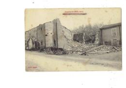Cpa Militaria - 88 -  Ménil Sur Belvitte - - Maisons Détruites Ruines Chariot - Guerre 1914/1915 - Cliché Antoine - Other Municipalities
