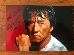 Jackie Chan Actor Photo Autograph Hand Signed 10x15 Cm - Fotos Dedicadas