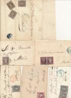 SPAIN 1855/1860 ISSUES ISABELL II 4CU  SELECTION OF COVERS OVIEDO MURCIA ASTORGA LERIDA - 1850-68 Kingdom: Isabella II