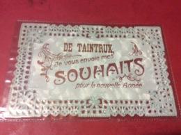 TAINTRUX. Carte Fantaisie  Dentelle Année 1912. RARE - Other Municipalities
