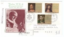 CITTà DEL VATICANO - FDC - 1970 - RACCOMANDATA N° 119367 - CINQUANTENARIO DEL SACERDOZIO DI PAOLO VI - - FDC