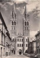 Cp , 14 , CAEN , L'Abbaye Aux Hommes, Église Saint-Étienne (façade Occidentale Du XIIe S.) - Caen