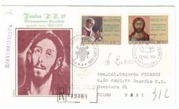 CITTà DEL VATICANO - FDC - RODIA - 1970 - RACCOMANDATA N° 119368 - EDGARDO PICARDI - 50° DEL SACERDOZIO DI PAOLO VI - - FDC