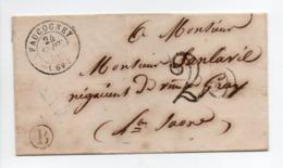 - Boite Rurale FAUCOGNEY Pour GRAY (Haute-Saône) 24 SEPT 1855 - Taxe Tampon 25 Centimes - - 1849-1876: Classic Period
