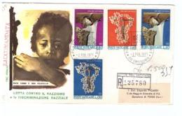 CITTà DEL VATICANO - FDC - ROMA - 1971 - LOTTA CONTRO IL RAZZISMO E LA DISCRIMINAZIONE - RACCOMANDATA N° 125780 - - FDC