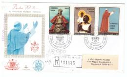 CITTà DEL VATICANO - FDC - KIM COVER - PAPA PAOLO VI - IN UNIVERSUM MUNDUM - RACCOMANDATA N° 121435 - BARI C.P. - - FDC
