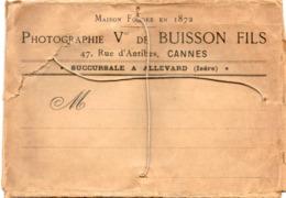 Photographie Victor De Buisson Et Fils. Rue D'Antibes,Cannes,Allevard (Isère). - Reclame