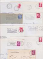 Lot Département 65 HAUTES PYRENEES : 17 Plis Divers ( TàD Manuel Secap ) Lourdes Entrepot Tarbes GA Guichet Annexe - Postmark Collection (Covers)