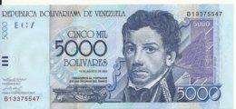 VENEZUELA 5000 BOLIVARES 2002 UNC P 84 B - Venezuela