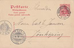 DR Ganzsache K1 Bobenneukirchen 13.12.03 Gel. Nach Schweden Mit Fährstempel Sassnitz-Trelleborg 14.12.03 - Covers & Documents