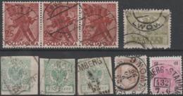Ukraine - Pologne - Autriche. Quelques Timbres Oblitérés Lwow - Lemberg (Lviv) - Ukraine