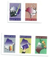 BRAZIL CITIZENSHIP FULL SET 05 STAMPS 1997 - NEW (SEE SCANS) - GN 0403 - Brazil