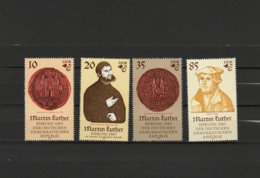 DDR 1982 Paintings Lucas Cranach, Martin Luther Set Of 4 MNH - Arte