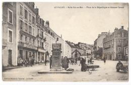 BELLE ILE EN MER (56) Le Palais Place De La République Et Avenue Carnot Animation - Belle Ile En Mer