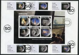 GIBRALTAR (2019). ATM Post & Go - 50th Anniversary APOLLO 11 XI Moon Landing 1969 - Souvenir Sheet + ATMs - First Days - Gibraltar