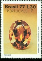 BRAZIL #1538 - PRECIOUS GEMS  -  TOPAZIO  -  1977  MINT - Brazil