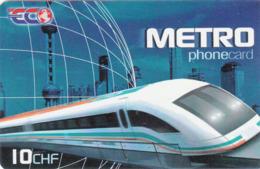 SWITZERLAND - Train , Prepaid Card Fr.10,  Used - Trains