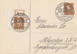 DR Karte Mef Minr.2x 410, Davon 1x Linker OER Walze SST Heidelberg 30.7.32 - Deutschland