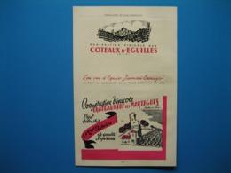 (1947) Coopératives : Côteaux D'ÉGUILLES - CHÂTEAUNEUF Les MARTIGUES - Carte Des Coopératives Des BOUCHES Du RHÔNE - Reclame