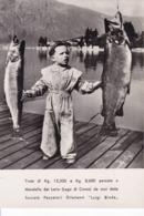 """Trote Di Kg. 12,300 E Kg. 8,600 Pescate A Mandello Del Lario (Lago Di Como) Da Soci Della Socità Pescatori Dilletanti """"L - Como"""