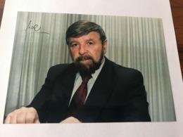 Szewach Weiss Israeli Politician Photo Autograph Hand Signed 12x17 Cm - Fotos Dedicadas