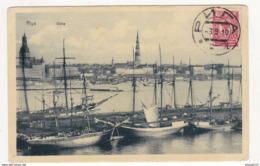 Au Plus Rapide Riga Düna Pour Bel Abbès Algérie 3 Sept 1910 Affranchissement Russe Russie - Lettonie