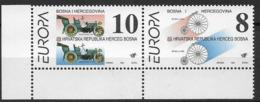 1994 Bosnia - Herzegovina, Bosnien-Herzegowina Croat.  Mostar Mi. 17-18 **MNH  Europa: Entdeckungen Und Erfindungen - Europa-CEPT