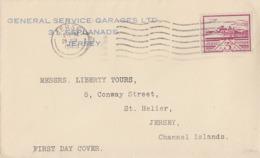 Dt. Besetzung Jersey Brief EF Minr.8 Jersey 29.6.43 FDC - Occupation 1938-45