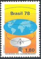 BRAZIL #1556 - INTERNACIONAL DAY OF  TELECOMMUNICATION    - SATELLITE ANTENNA 1978  MINT - Brazil