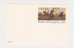 US Scott # UX87 Battle Of Cowpens Postal Card - Postal Stationery