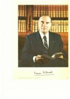 François Mitterrand President Of France Photo Autograph Hand Signed 20x25 Cm - Fotos Dedicadas