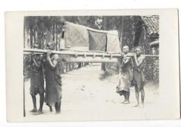 ETHNOLOGIE AFRIQUE NOIRE Carte Photo Types De Porteurs Gros Plan - Cartes Postales