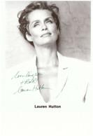 Lauren Hutton Actress Photo Autograph Hand Signed 20x25 Cm - Fotos Dedicadas