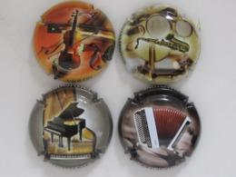 Capsules De Champagne Générique Instruments De Musique N°827 à827c - Collections