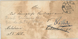 Mainz Zum 1.2.1854 Bundesfestung - Schreiben 39. Infanterie-Regiment An Das Kgl Landratsamt Eckartsberga - Deutschland