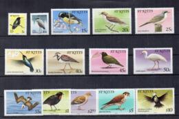 St. Kitts - 1981 - Uccelli - 14 Valori - Nuovi - Linguellati * - (FDC17706) - St.Kitts Und Nevis ( 1983-...)
