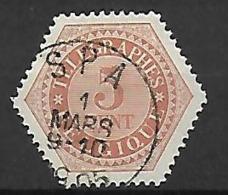 OCB Nr TG9 Telegraaf Télégraphe - Centrale Stempel Spa - Telegraphenmarken