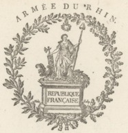 Blotzheim Héraldique Armée Du Rhin An 2 - 17.3.1794 Signature Scherer - Postmark Collection (Covers)