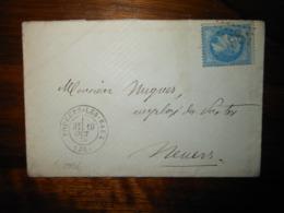 Enveloppe GC 2998 Poughes Les Eaux Nievre - 1849-1876: Classic Period