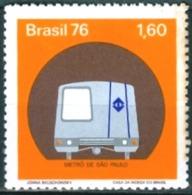 BRAZIL #1476 -  METRO SAO PAULO  - TRAIN -  1976 - Brazil