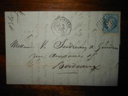 Lettre GC 2992 Port Vendres Pyrénées Orientales Avec Correspondance - 1849-1876: Classic Period